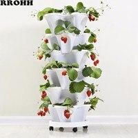 Трехмерный цветочный горшок с лепестками клубничный бассейн многослойный накладной горшок для выращивания овощей Дыня фруктовый посадочн...