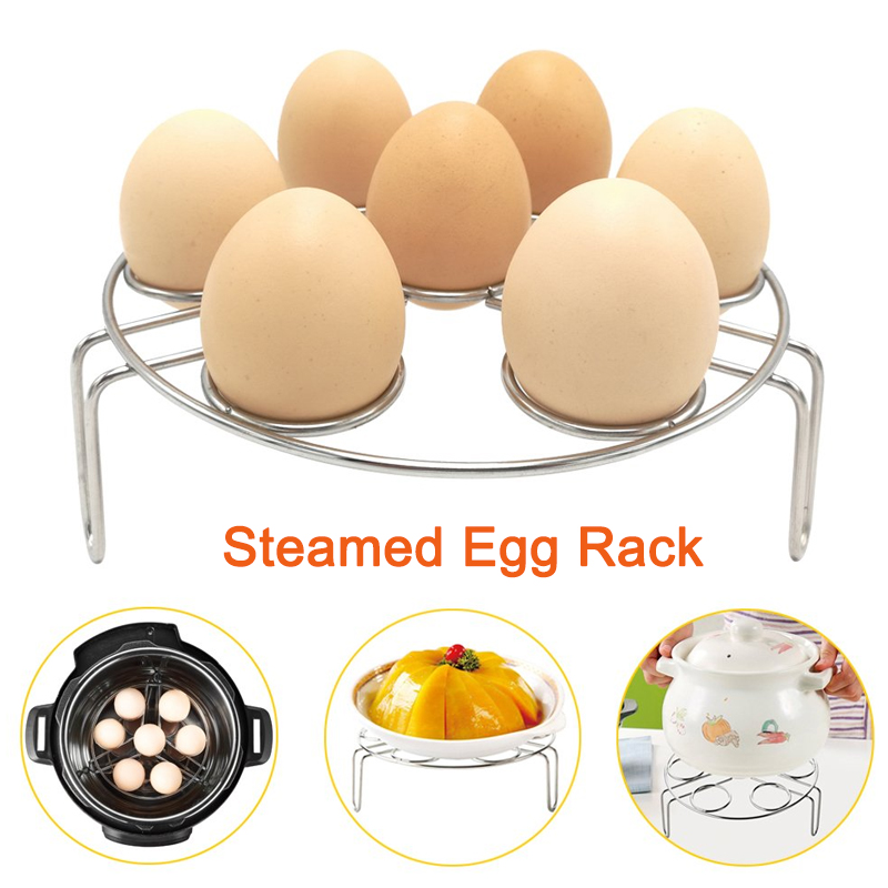 Stainless Steel Multi-function Boiled Egg Steamer Rack 3 In 1 Steam Tray Insulation Shelf Steaming Tray Stand Kitchen Cookware