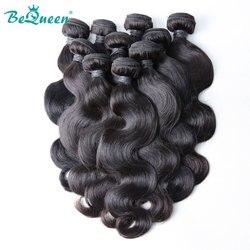 BeQueen brésilien vague de corps paquets de cheveux humains offres 10 pièces 20 22 24 26 28 pouces Remy cheveux humains armure faisceaux Extensions de cheveux