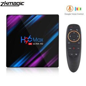 Image 1 - טלוויזיה תיבת אנדרואיד 9.0 Google Play H96 מקס Rockchip 4G 32GB 64GB אנדרואיד טלוויזיה תיבת 2.4/5.0G WiFi Bluetooth 4.0 4K 3D אנדרואיד תיבה
