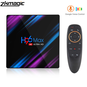 Image 1 - Tv box android 9.0 Google Play H96 MAX Rockchip 4G 32GB 64GB Android tv box 2.4/5.0G WiFi Bluetooth 4.0 4K 3D Android box