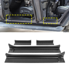 Front Rear Door Sill Scuff Plates Car Protector Plant for Jeep Wrangler JL Gladiator JT 2018 2019 2020 2021 2022 2/4Doors Black