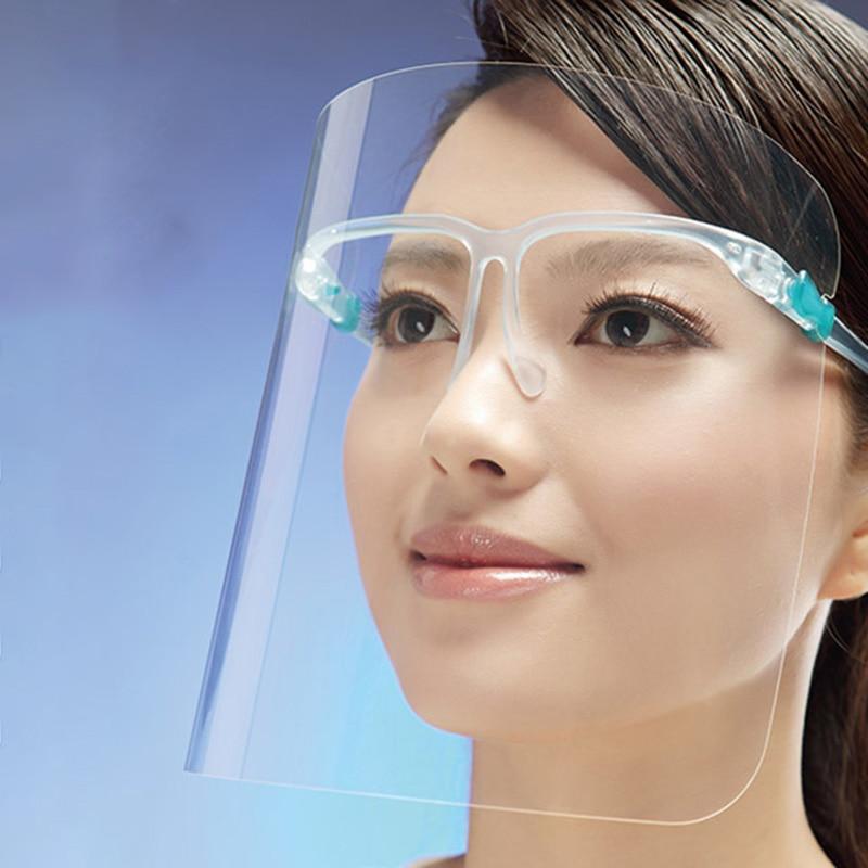 2pcs Faceshield Transparent Full Face Cover Safety Protective Film Tool Anti-dust Anti-oil Anti-fog Kitchen Outside Use Splash