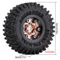 """INJORA 4PCS CNC 1.0"""" Beadlock Wheel Rims Tires Set for 1/24 RC Crawler Car Axial SCX24 AXI90081 AXI00001 AXI00002 Deadbolt 4"""
