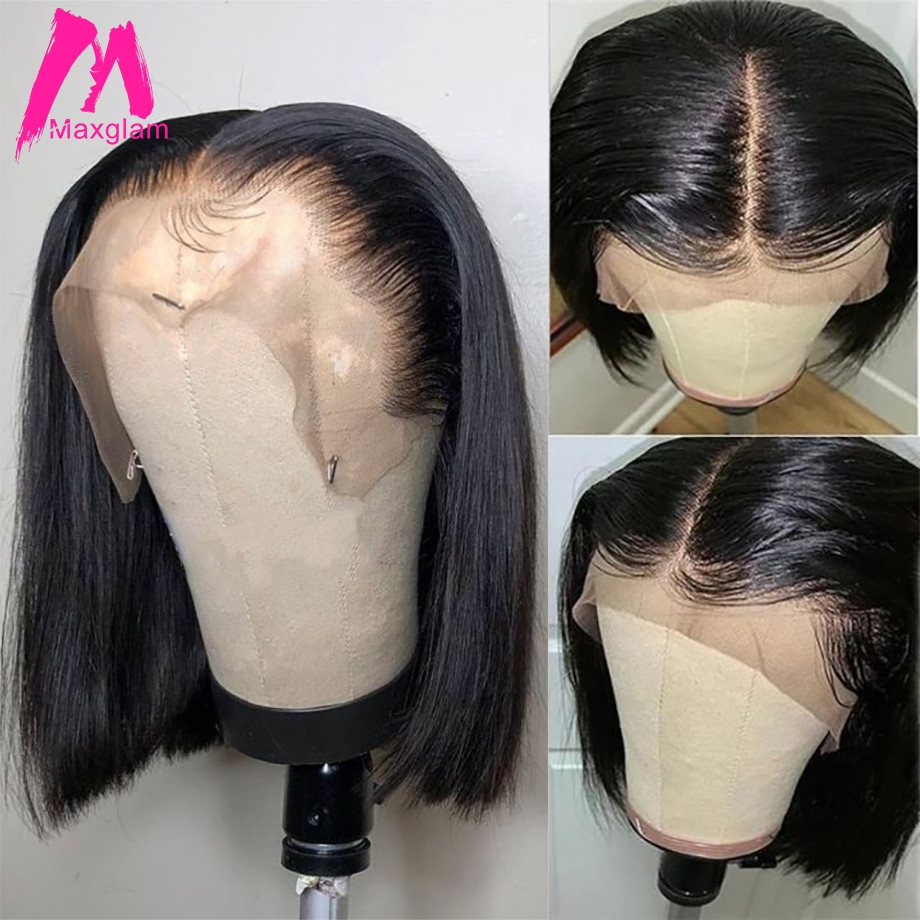 Bob Lace Front Wigs Human Hair Brazilian Straight Short Natural Bob Wig Long Preplucked Remy Glueless Frontal For Black Women