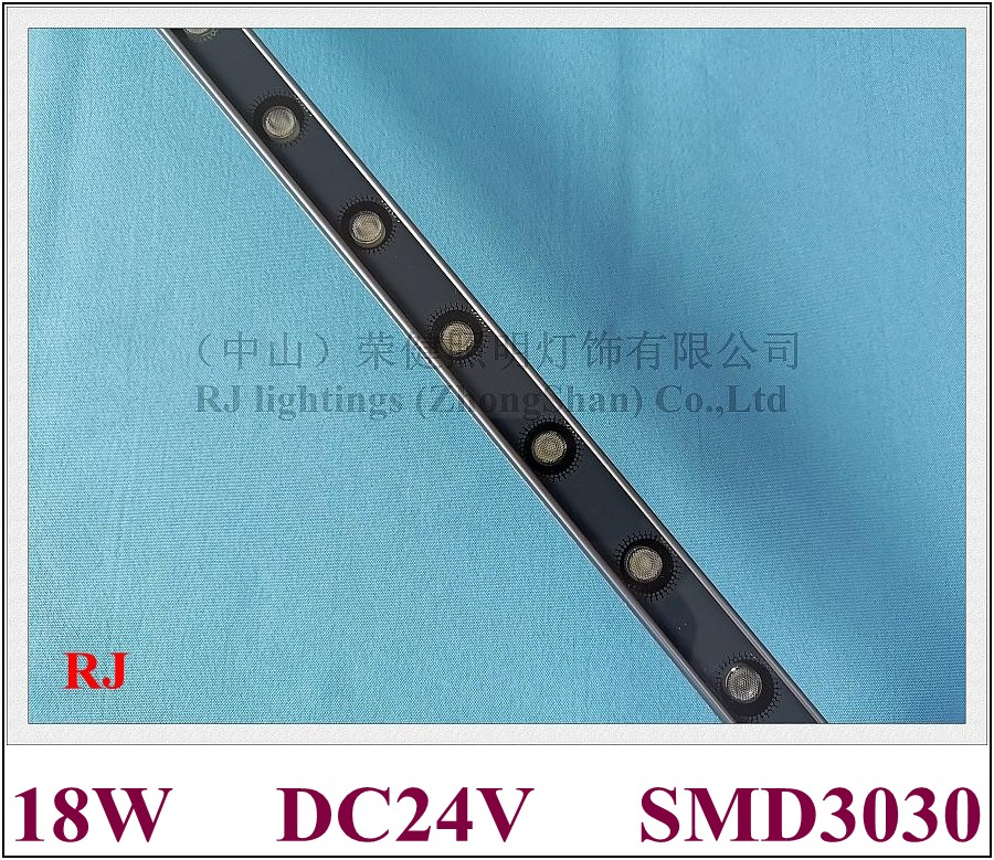 LED Wall Washer SMD 3030 Wash Wall LED Advertising Light Lamp DC24V Aluminum SMD3030 18 LED 18W 1800lm IP65 1000mm*30mm*20mm