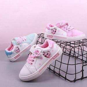 Image 5 - Niños Niñas zapatos de pisos casuales niños estudiante zapato niño zapatillas de deporte de moda Elsa Anna zapatillas de deporte de invierno deporte de abrigo zapato