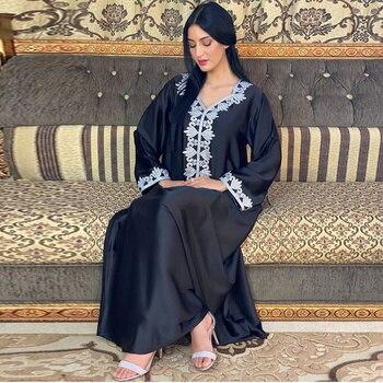 Eid Abaya Dubai Turkey Muslim Dress Islam European African Dresses Abayas For Women Robe Arabic
