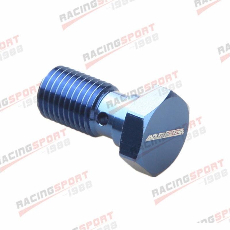 Parafuso Banjo UNF 7/16-liga de Alumínio Banjo Bolts Brake Adaptor 20UNF azul/preto-2