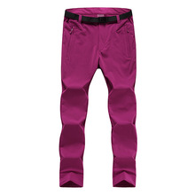 Hot autumn and winter outdoor stretch pants men and women windproof waterproof wear-resistant thick warm hiking pants