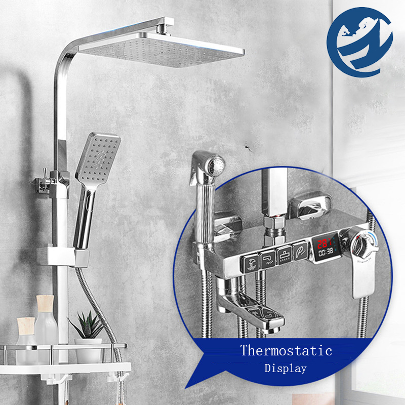 Chrome Thermostatic Digital Display Shower Faucet Bathroom Shower Faucet Rain Shower Bath Faucet Bathtub Faucet Bidet Recommended Products Cards Carousel