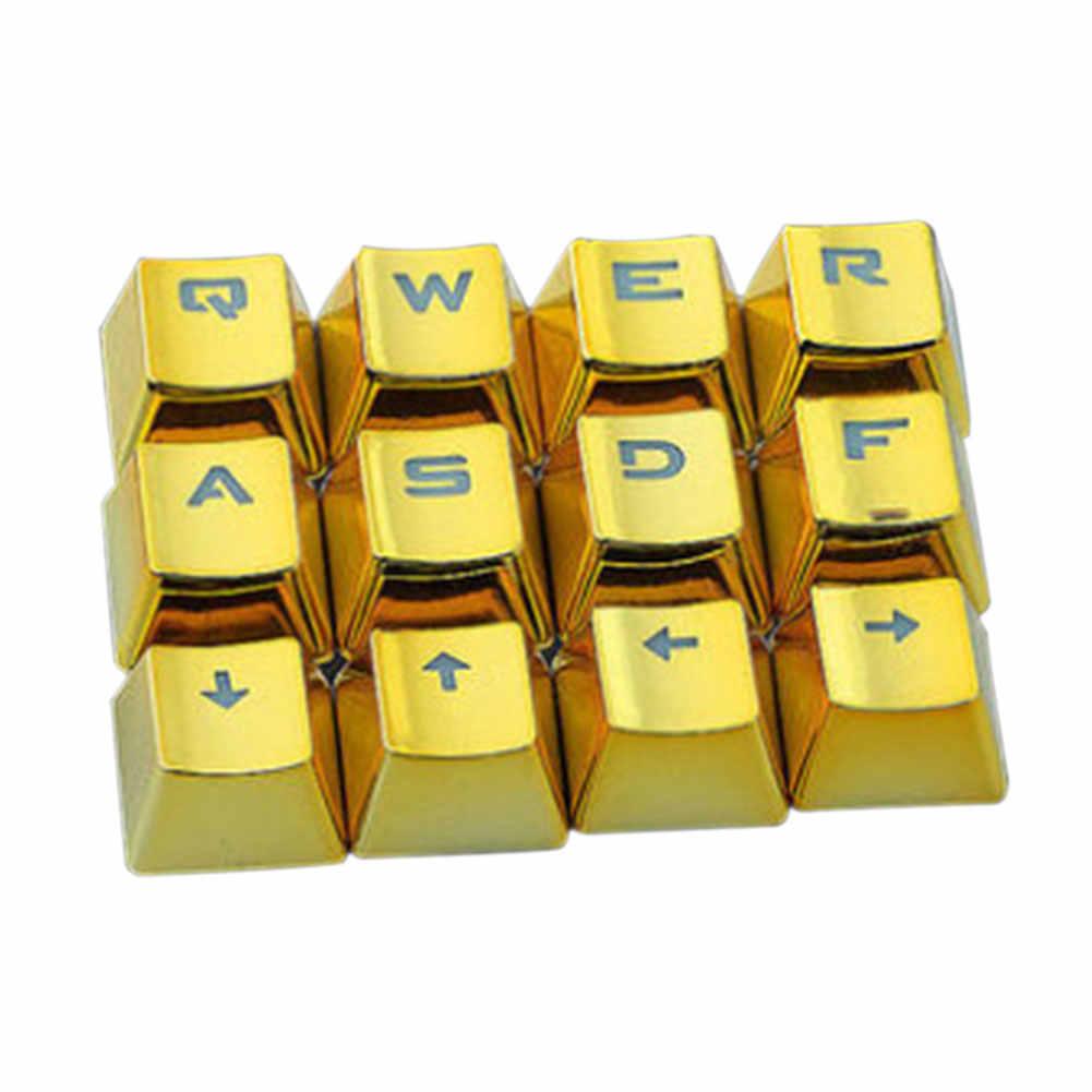 12 個の usb ロープロファイルゲーム除去ユニバーサルバックライトキーキャップオフィス耐久性のある金メッキ防水アクセサリーメカニカルキーボード