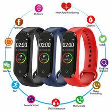 M4 Smart Band Wristband Heart rate Blood Pressure Monitor Pedometer Sports Bracelet PK M3 Fitness bracelet Watch