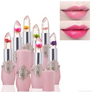 Flower Crystal Jelly Lipstick Magic Temperature Color Changing Lip Balm Moisturizing Long Lasting Beauty Lipstick Makeup TSLM1(China)