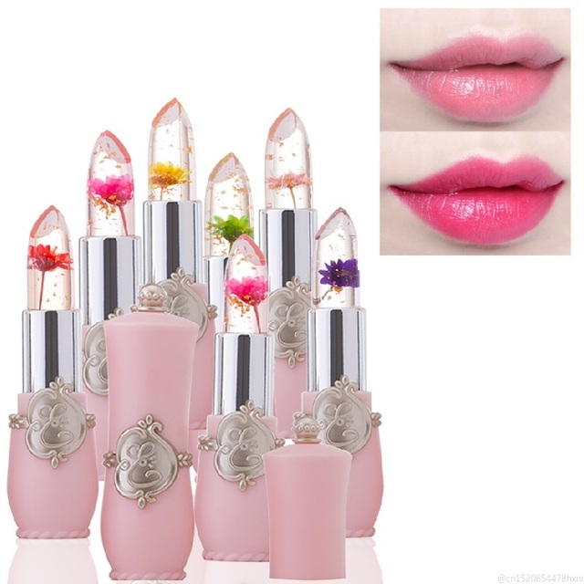 Flower Crystal Jelly Lipstick Magic Temperature Color Changing Lip Balm Moisturizing Long Lasting Beauty Lipstick Makeup TSLM1