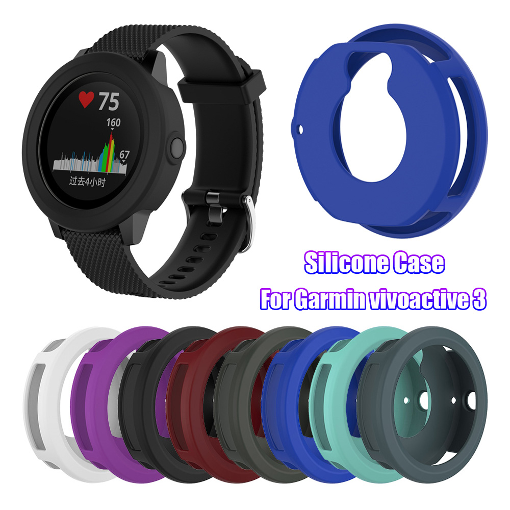 New Arrival Soft Silicone Protective Case Watch Cover Screen Protectors For Garmin Vivoactive 3 Soft Silicone Shell Durable