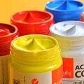 акриловые краски 24 Цвета Профессиональный набор кистей 50 мл трубки художник рисунок красящий пигмент ручная роспись краски для стен;краска...