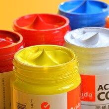 Ensemble de pinceaux professionnels pour peintures acryliques, 12/24 couleurs, Tubes de 50ml, peinture de dessin d'artiste, Pigment peint à la main, vêtements de peinture murale