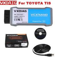 Vxdiag vcx nano para toyota tis techstream v15.00.026 compatível com ferramenta de varredura sae j2534