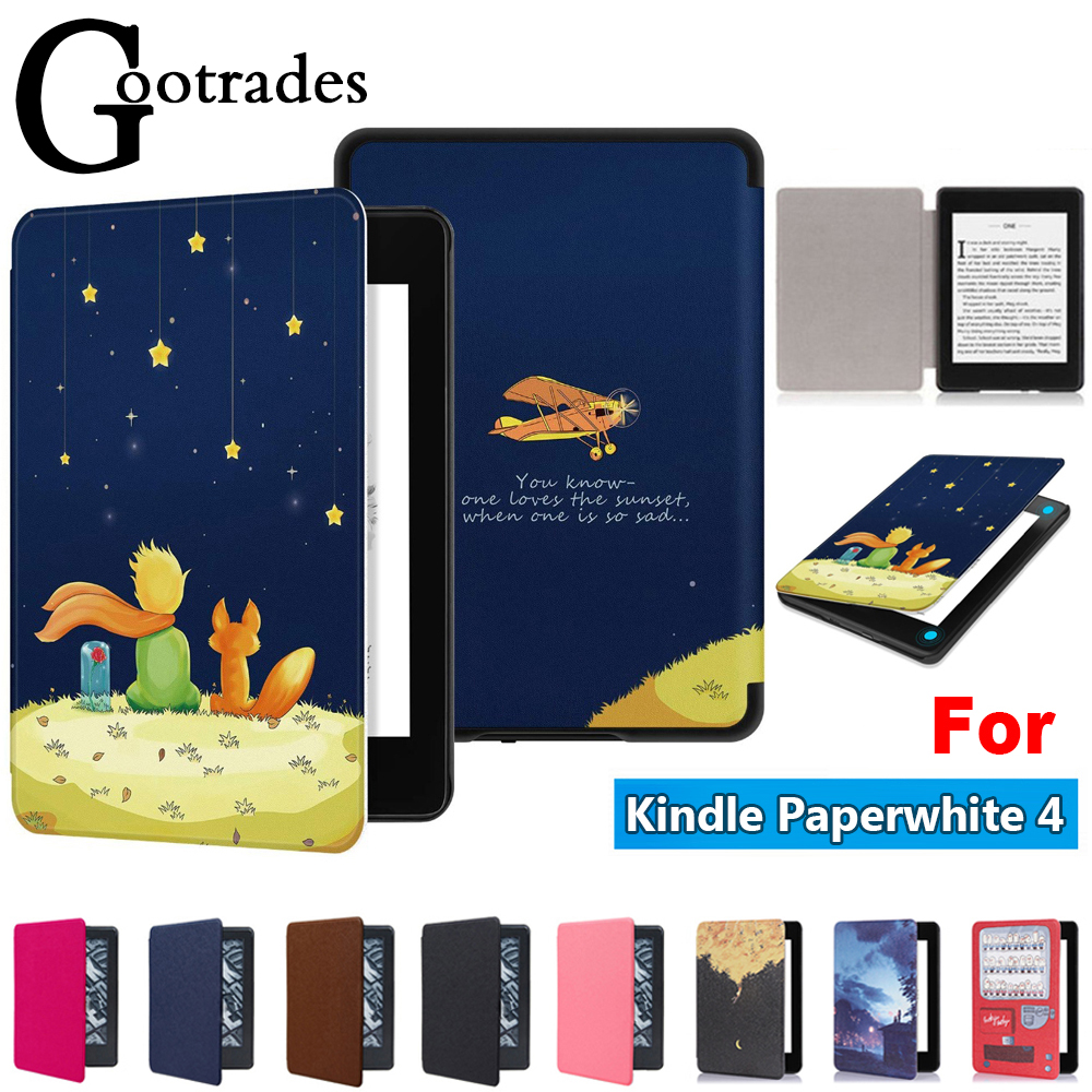 PU Leather Folio Cover Magnetic Smart Case Protective Shell For Amazon Kindle Paperwhite 4 10th Generation 2018 Released