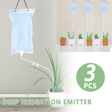 3 Pcs 1 L Plant Life Support Watering Bag Automatic Garden Plant Watering System Drip Irrigation Plant Watering Device