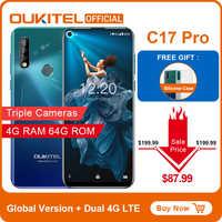 """Oukitel C17 Pro 6.35 """"19.5: 9 Android 9.0 Del Telefono Mobile MTK6763 Octa Core 4G di Ram 64G Rom Dual 4G Lte Posteriore Triple telecamere Smartphone"""