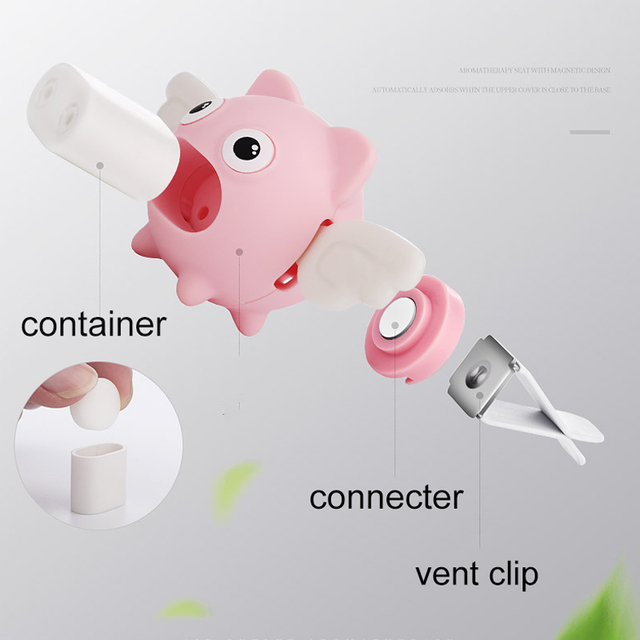 Cute Car Air Perfume Flying Pig Aroma Diffuser Air Freshener Auto Interior Scent Aromatherapy Decor Car Accessory Piggy Ornament 1