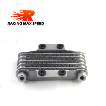 цена на High Quality Universal  Motorcycle oil cooler 190 mm 6 row silver&black SO-05