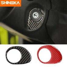 Interior Mouldings For Suzuki Jimny 2019 Carbon Fiber Car Ignition Switch Decoration Stickers For Suzuki Jimny 2019+ Accessories