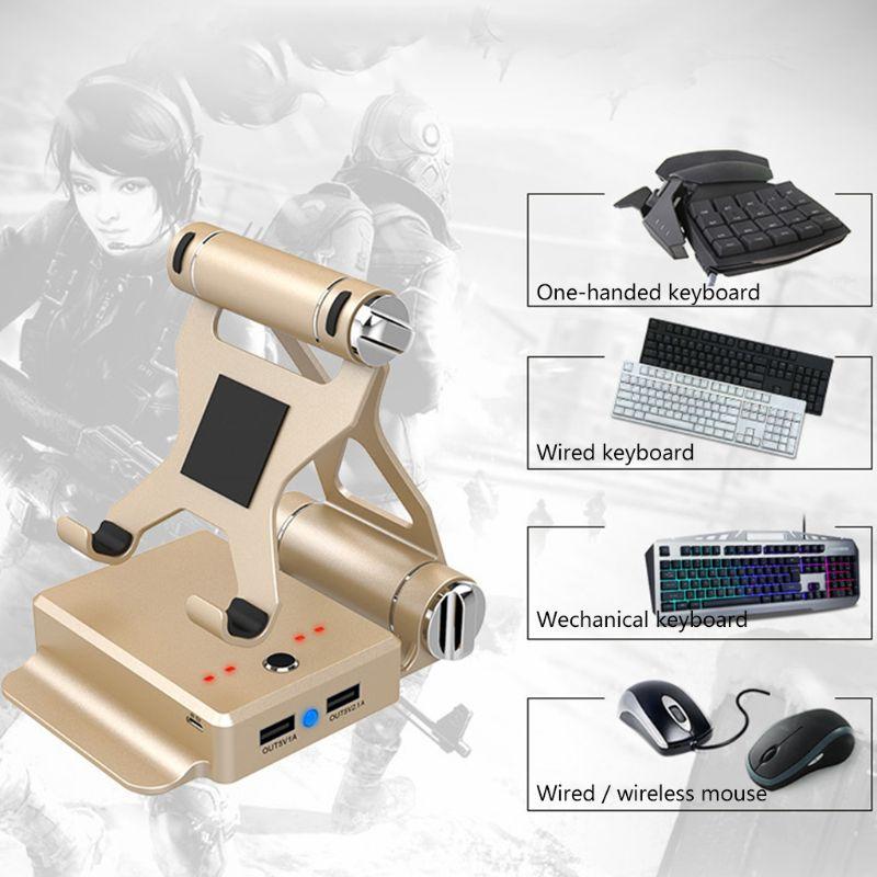 GameSir X1 BattleDock Converter Stand Phone Holder with G30/K15 Keyboard Mouse