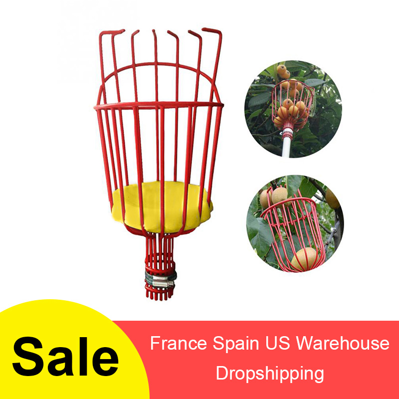 Aluminum Deep Basket Fruit Picker Head Convenient Fruit Picker Catcher Apple Peach Picking Garden Tools