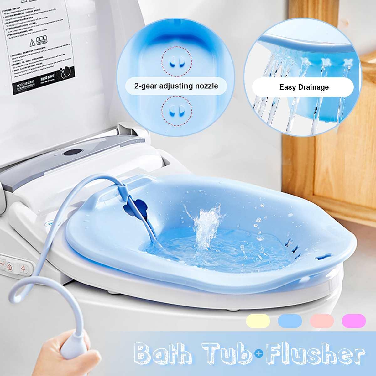 Sitz Ванна хип Ванна флушер Ванна бассейна фумигация ванна для беременных женщин геморрой больные туалет ванная комната