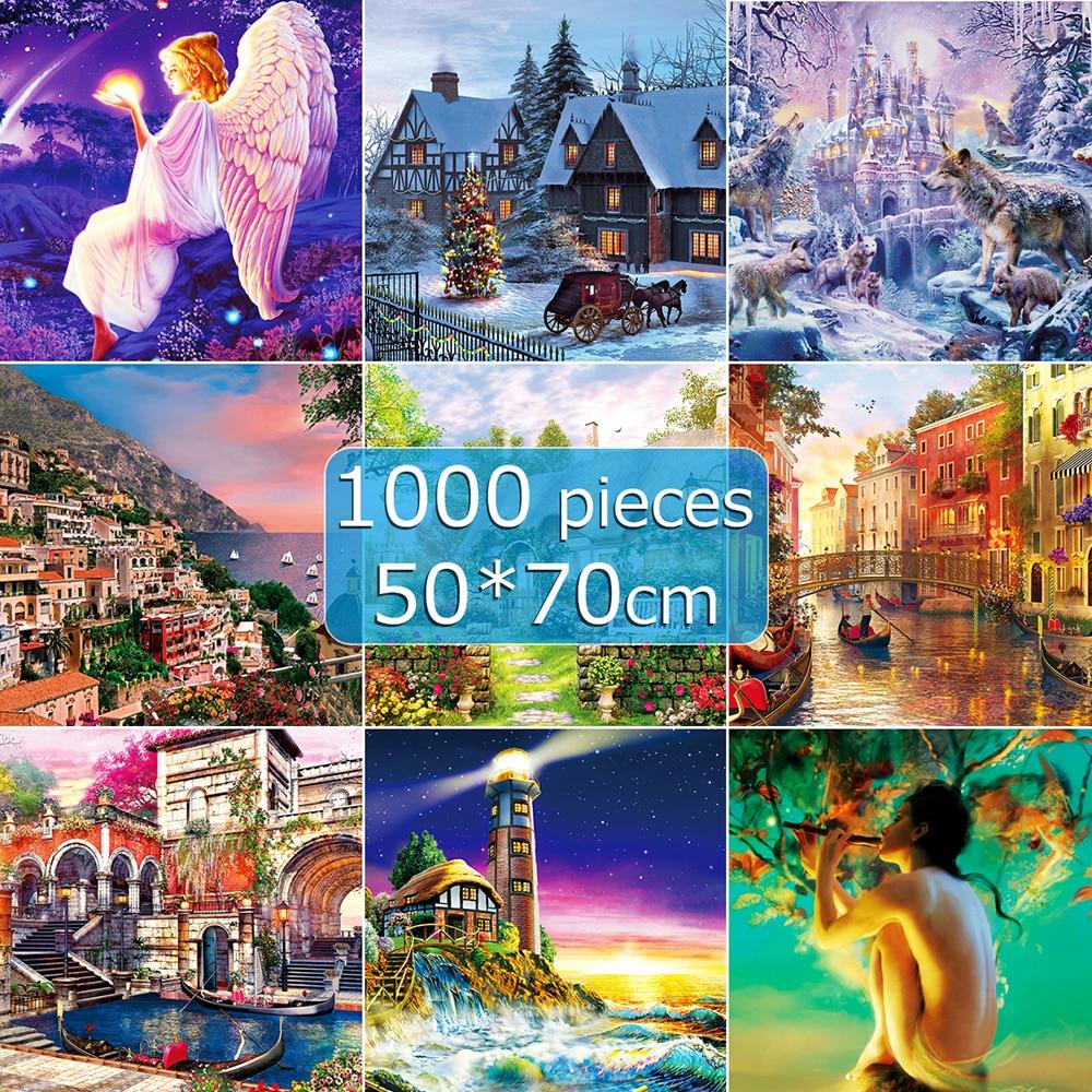 Jigsaw Puzzle 50*70 Cm Puzzle 1000 Pieces Assembling Picture Landscape Puzzles Toys Puzzle Game 1000 Piece Puzzles For Adults