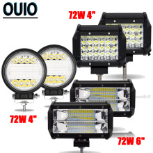 4 5 Driving Fog Offroad LED Work Car Light 72W 12V Universal Cars 4WD Led Combo Beams Bar Spotlight Flood Lamp