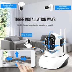 360 stopni obrotowa bezprzewodowa kamera wifi 720 p/1080 p monitor zdalny Monitoring telefonu komórkowego inteligentna sieć Hd w Kamery nadzoru od Bezpieczeństwo i ochrona na