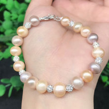 Hot selling natural pearl bracelet fashion ladies color beads single circle bracelet jewelry gifts