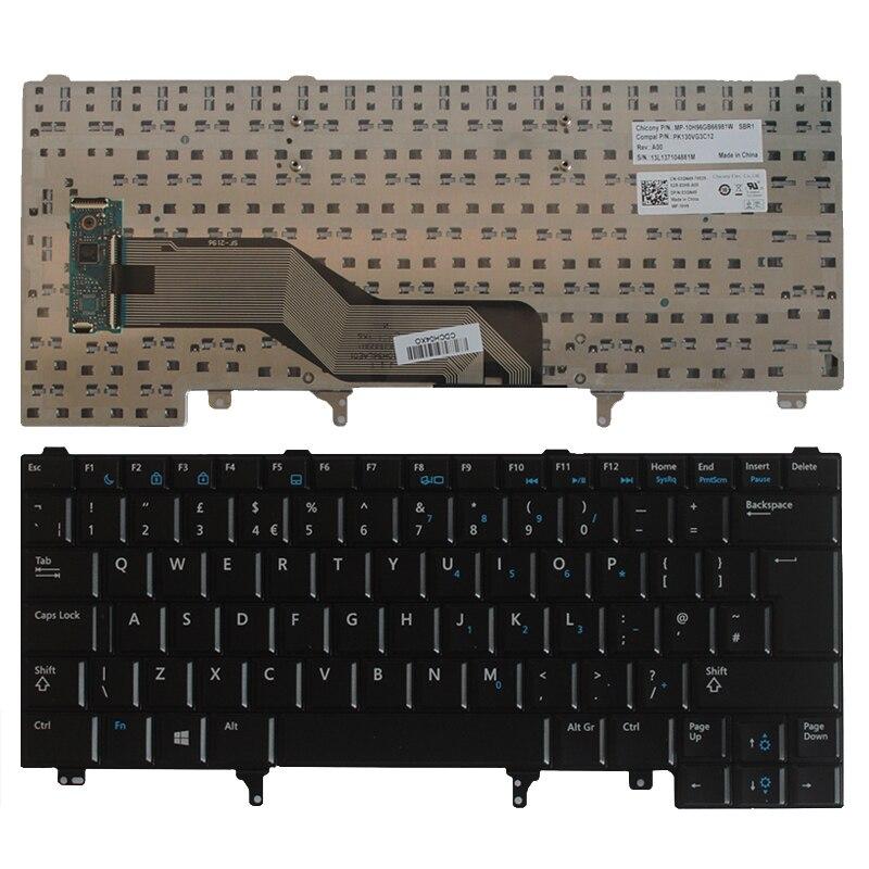 Dell Latitude E5420 E5430 Keyboard FWVVF Non-Backlit No Pointer