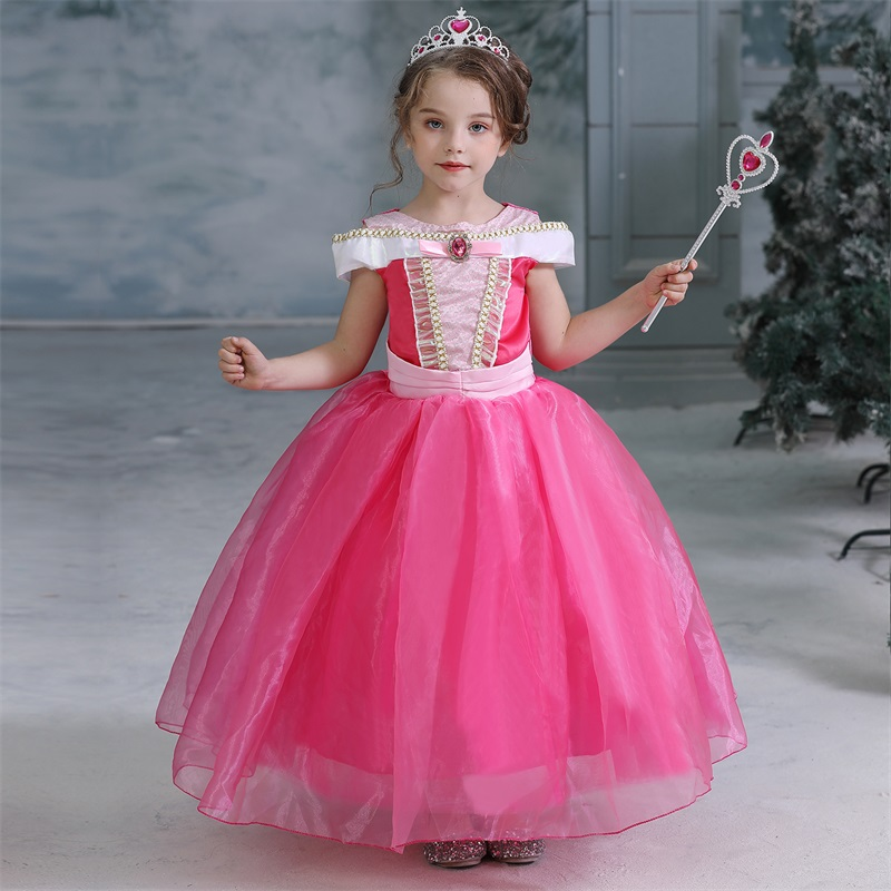 Fancy Girl Dress Cosplay Costume For Kids Dresses Princess Carnival Birthday Party Wear Baby Clothes Teens Chidren Clothing 13