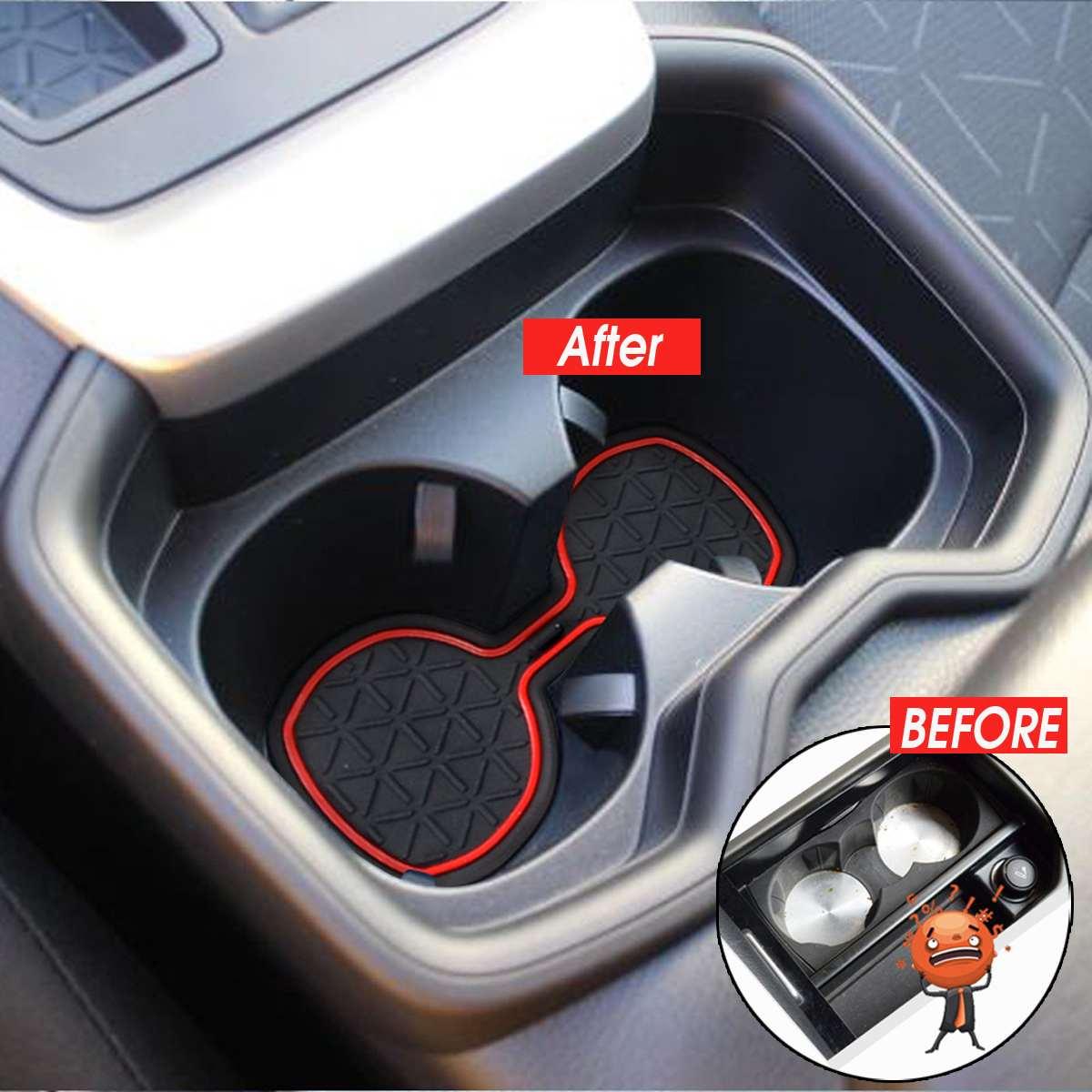 12X нескользящий автомобильный внутренний держатель чашки для двери консоль отделка наклейки ворота Слот коврик паз коврики для Toyota RAV4 2019 2020...