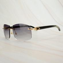 Luxury Raw Impression Buffalo Horn Sunglasses for Men Women