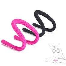 Potenciador Oral manos libres, estimulación del clítoris del punto G, dispositivo de expansión de silicona Vagina juguetes sexuales para mujer, Plug Anal Butt Stretcher