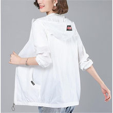 2020 New Summer Women's Jacket Hooded Thin Coat Sun Protection Jacket Long Sleeve Casual Windbreaker Female Outwear Plus Size(China)