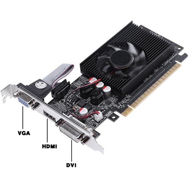 GT730 2G Graphics Card 64-Bit D3 Game Video Card Server Half-Height Graphics Card for Geforce Dvi VGA Video Card 2