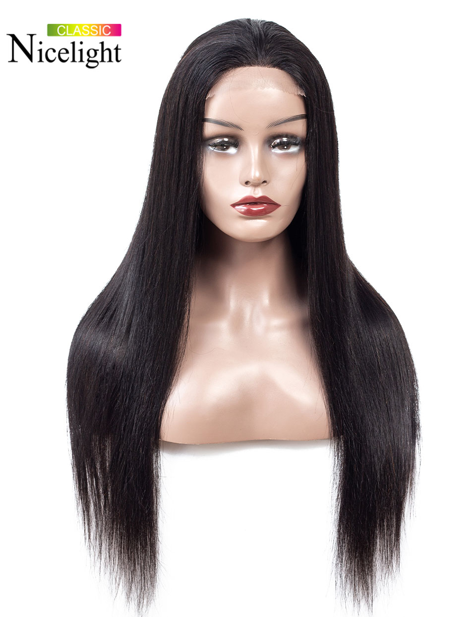 H49c1f916321142a38f1e1d5bc2cd18ecS Straight Closure Wig Human Hair Wigs With Closure 4X4 Lace Wig Nicelight Indian Wig Remy Natural Hair Long Black Closure Wig