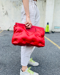 Image 5 - 높은 품질 아래로 공간 베개 Pu 가죽 Crossbody 메신저 가방 어깨 가방 지갑과 핸드백 여성용 클러치 백 봉투