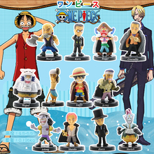 12pcs/set 5cm One Piece Figure Luffy Sabo Shanks Lucci Crocodile Moria Buggy Enel PVC Figures Collectible Model Toys Gift