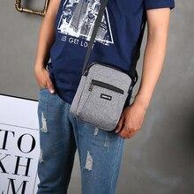 Мода мужчины сумка-мессенджер сумка телефон карман сумка через плечо для мужчин плечо сумочка многофункциональный мужской маленький клапан черный