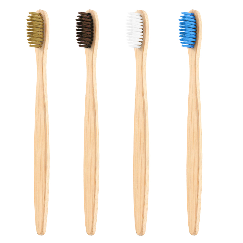Unisex Natural Bamboo Wooden Handle Toothbrush Eco Friendly Soft Bristles Ht19 For  Doppshipping