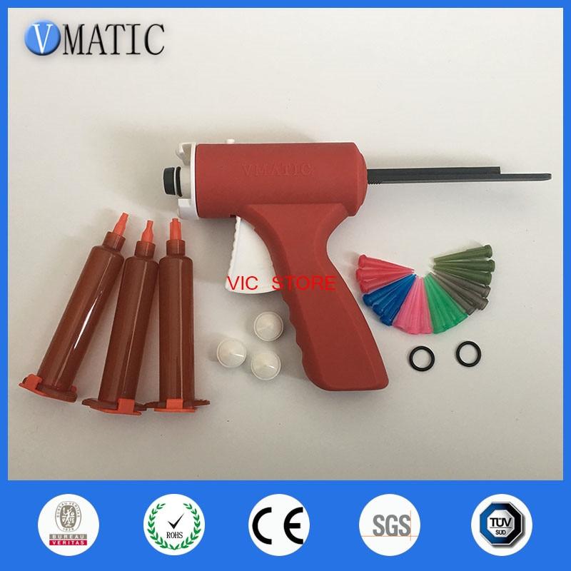 Free Shipping 10ml Manual Syringe Gun/ Epoxy Caulking Adhesive Gun Liquid Glue Gun/Dispensing Gun With Needles & Syringe Barrel
