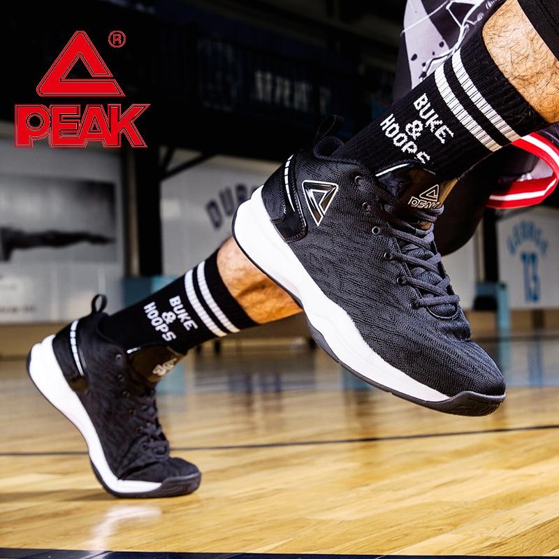PEAK Basketball Shoes For Men Cushion Comfortable Basketball Sneakers Non-slip Durable Flexible Outdoor Sports Shoes